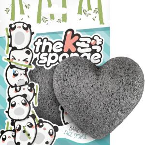 魔芋海绵 K-Sponge 心形海绵 - 竹炭 12g