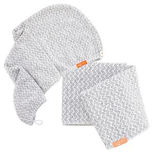 Aquis Lisse Luxe Hair Turban and Hair Towel - Chevron