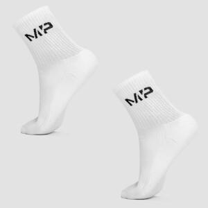 男士船型袜 - 白色