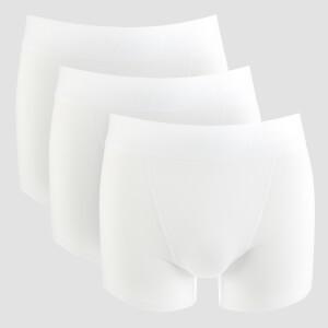 男士运动内裤(3件装)- 白色