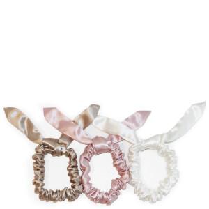 Slip 丝质兔子发圈 3 个装 | 焦糖色/粉色/白色
