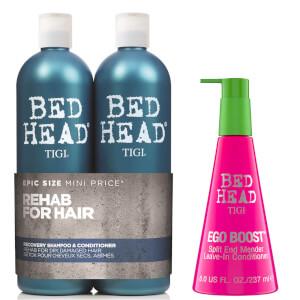 TIGI Bed Head 保湿洗发水、护发素和免洗护发素套装