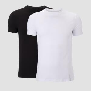 Luxe 极致系列 男士经典短袖上衣 (2件装) - 黑 / 白