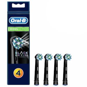 Oral-B 多动向电动牙刷替换刷头 4 支 | 黑色版