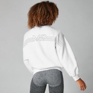 Oversized 女士 Logo 宽松运动衫 - 白