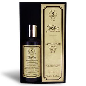 Taylor of Old Bond Street Sandalwood Hair & Body Shampoo 100ml And Shaving Cream Tube 75ml