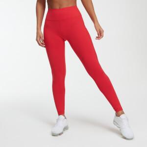 Power Mesh 力量系列 女士网纱紧身健身裤 - 红色