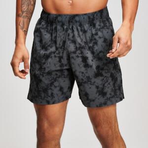 男士健身运动短裤 - 迷彩黑