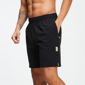 男士梭织 23 公分短裤 - 黑色