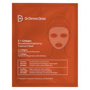 Dr Dennis Gross Skincare C+胶原蛋白生物纤维素亮肤面膜   1 片
