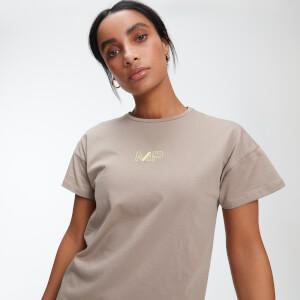 Oversized 女士 T 恤 - 米棕色