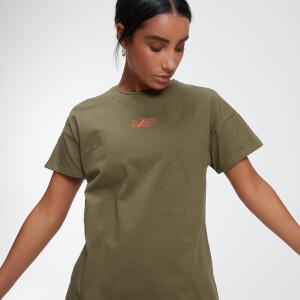 Oversized 女士 T 恤 - 绿色