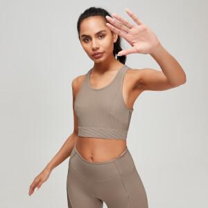 Textured 女士运动内衣 - 米棕色