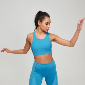 Textured 女士运动内衣 - 蓝色