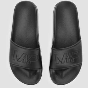 男士休闲拖鞋 - 黑色
