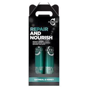 TIGI Catwalk Oatmeal & Honey Nourish Shampoo and Conditioner - Pack of 2