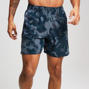 男士健身运动短裤 - 迷彩蓝