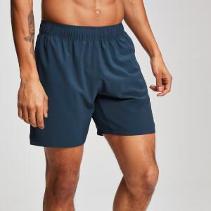 男士健身运动短裤 - 纯蓝