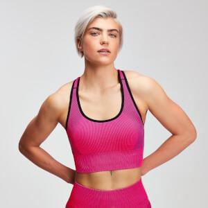 Seamless 无缝系列女士后背交叉运动内衣 - 桃粉色