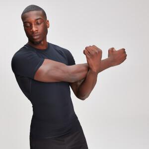 MP男士紧身短袖T恤 - 黑
