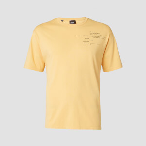 MP Men's Rest Day Staggered Slogan T-Shirt - Old Gold