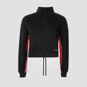 MP Women's Power Zipped Funnel Neck Sweatshirt - Black