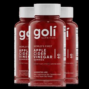 Goli 苹果醋软糖套装 | 3 瓶
