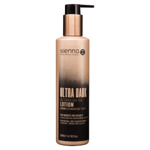 Sienna X Ultra Dark Q10 Tinted Self Tan Sleep Lotion 200ml