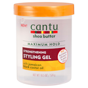 Cantu Shea Butter Maximum Hold Strengthening Styling Gel with Jamaican Black Castor Oil 18.5 oz