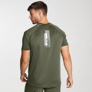 男士印花训练短袖T恤 - 军绿