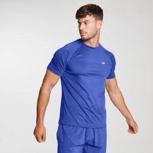 男士印花训练短袖T恤 - 深蓝