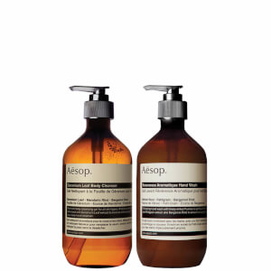 Aesop Geranium Cleanser and Reverence Hand Wash Duo