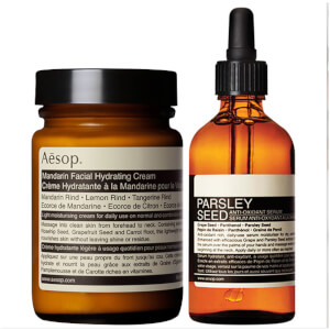Aesop Mandarin Facial Cream and Parsley Seed Serum Duo