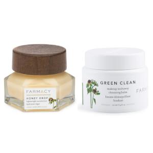 FARMACY 蜂蜜面霜与绿色深层清洁膏套组