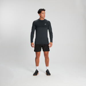 MP Men's Essential Long Sleeve Seamless T-Shirt - Carbon Marl