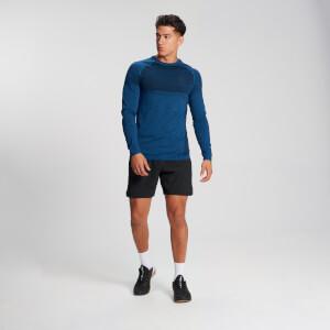 MP Men's Essential Long Sleeve Seamless T-Shirt - Pilot Blue Marl