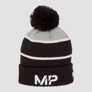 MP New Era Knitted Bobble Hat - Black/White