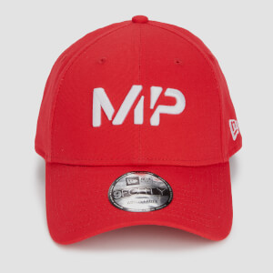 MP New Era 9FORTY Baseball Cap - Danger/White