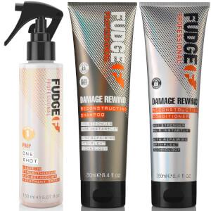 Fudge Professional Damage Rewind Shampoo, Conditioner and One Shot Bundle