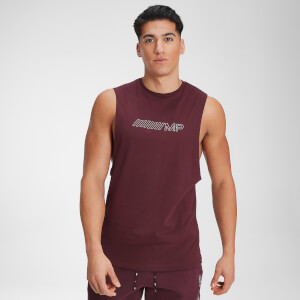 MP Men's Outline Graphic Tank - Washed Oxblood