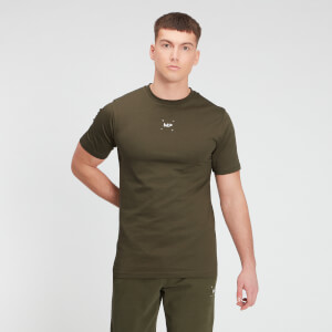 MP Men's Central Graphic Short Sleeve T-Shirt - Dark Olive