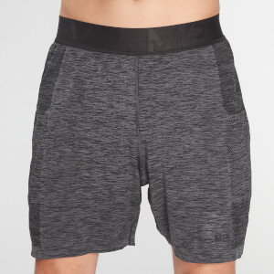 MP Men's Essential Seamless Shorts- Storm Grey Marl
