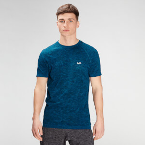 MP Men's Essential Seamless Graphic Short Sleeve T-Shirt- Aqua