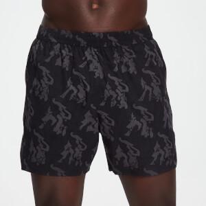 MP男士Adapt系列迷彩印花短裤 - 黑色迷彩