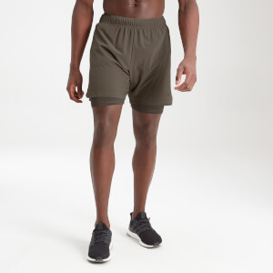 MP Men's Essentials 2-in-1 Training Shorts - Dark Olive