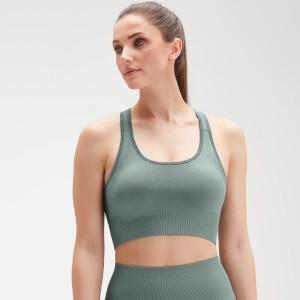 MP Women's Shape Seamless Ultra Cross Strap Sports Bra - Washed Green