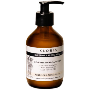 KLORIS Soothing No-Rinse CBD Hand Sanitiser 200ml