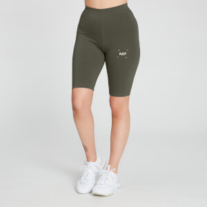 MP Women's Central Graphic Cycling Shorts - Dark Olive