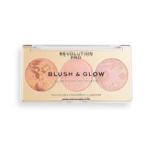 Revolution Pro Blush & Glow Palette - Peach Glow 2.8g
