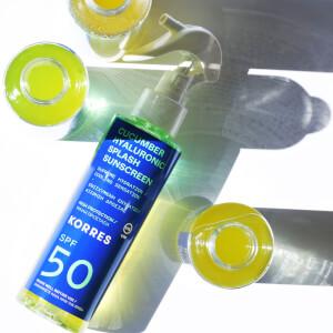 KORRES Cucumber Hyaluronic SPF50 Splash Sunscreen 150ml
